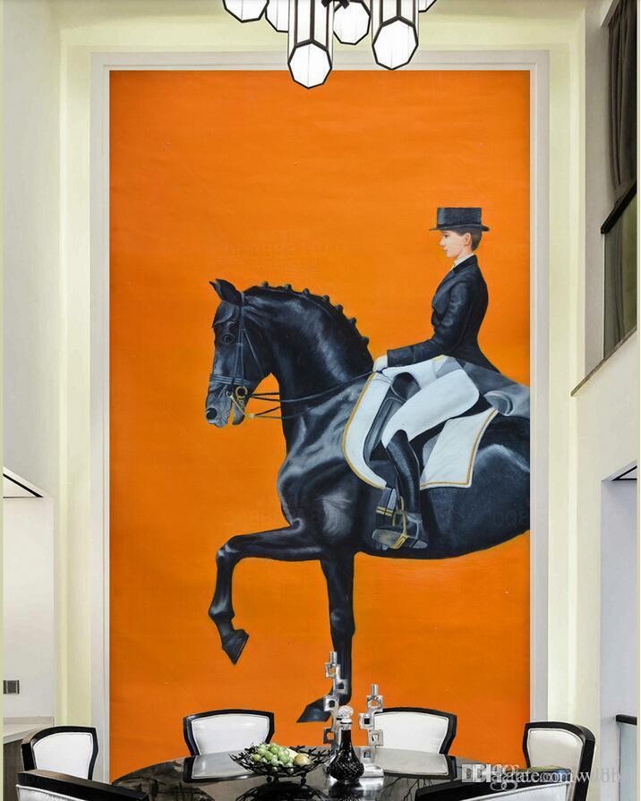 3d wallpaper custom photo HD giant European royal equestrian oil painting art porch landscapes room muals wall paper for walls 3 d