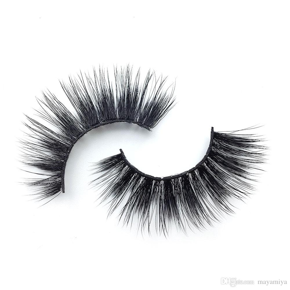 K18 6 style k series 1pair Handmade False Eyelash 3D real mink eyelashes False eyelash