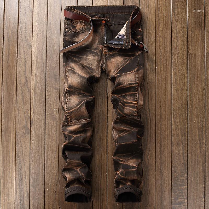 Men's Jeans 2021 Fashion Vintage Men Denim Classics Slim Mens Designer Pants Clothing Plus Size 421