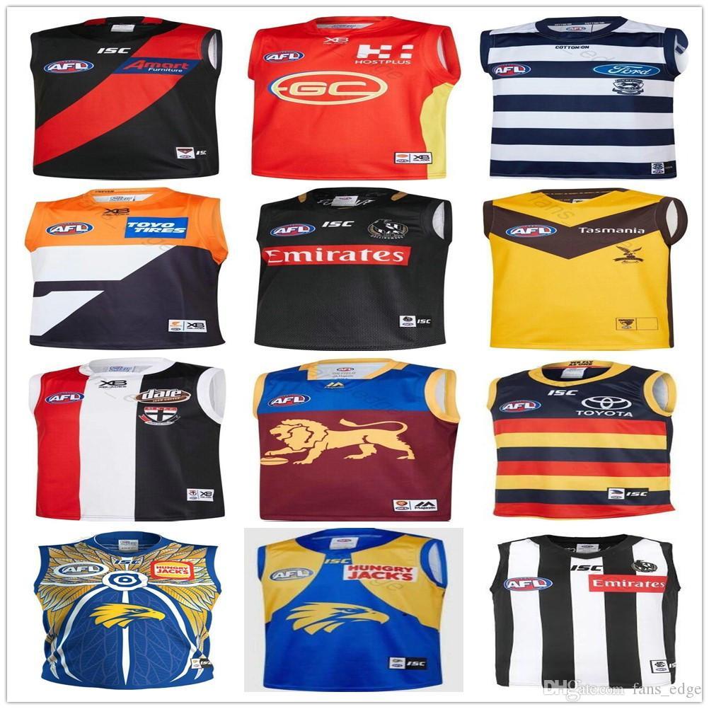 2019 AFL West Coast Eagles Guernsey Adelaide Krähen Collingwood Elstern Eddie Betts 300. Geelong Katzen Essendon Bomber Rugby Trikots Singlet