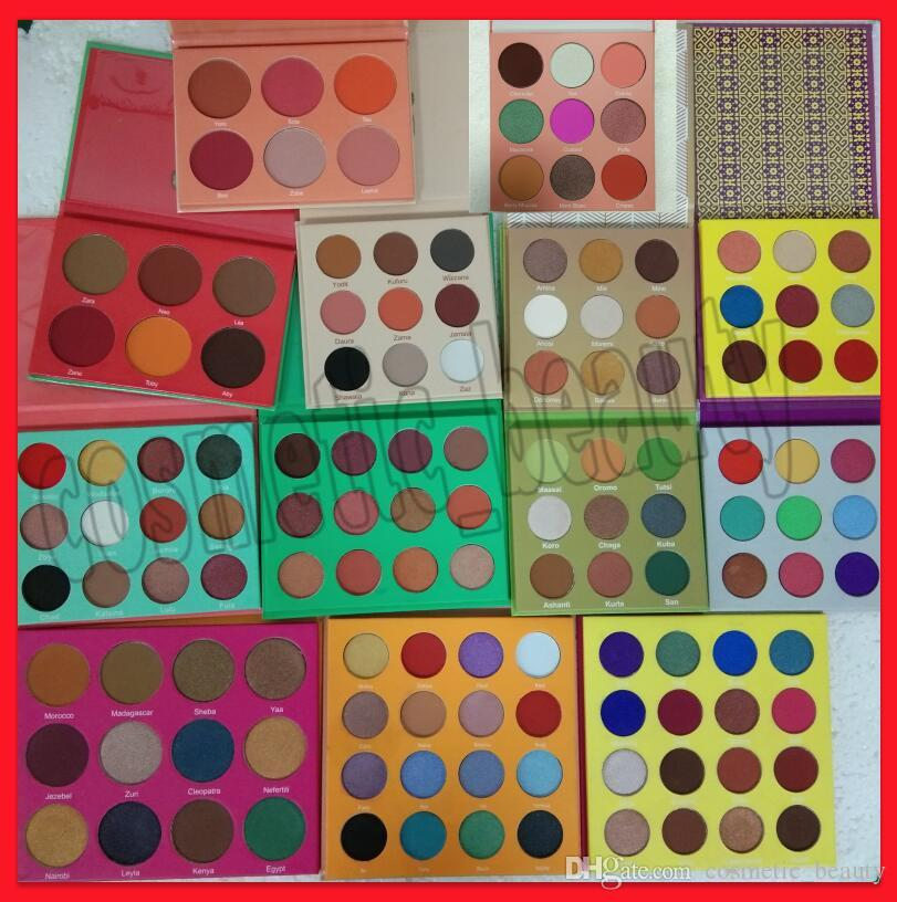 .New göz makyajı Zulu EyeShadow Palet 16 renk 12 renk Işıltılı far 6 renk allık DHL ücretsiz nakliye