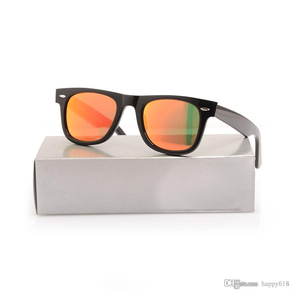 New Arrival Womens Sunglasses High Quality Plank Sunglasses Color Lens Sunglasses glass Lens Mens Sun glasses Metal hinge glasses With boxs