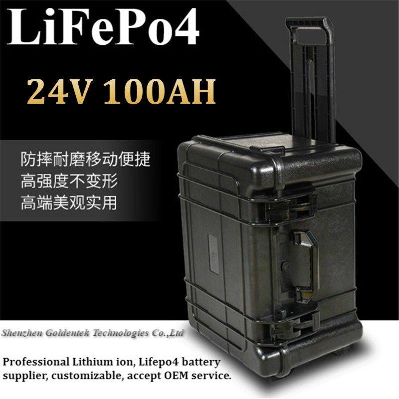 Wagen nagelneue lifepo4 24v Batterie 24V 100AH bateria für elektrisches Automobil-LKW-Buswäscher COMAC UPS EV + 10A 24V Ladegerät
