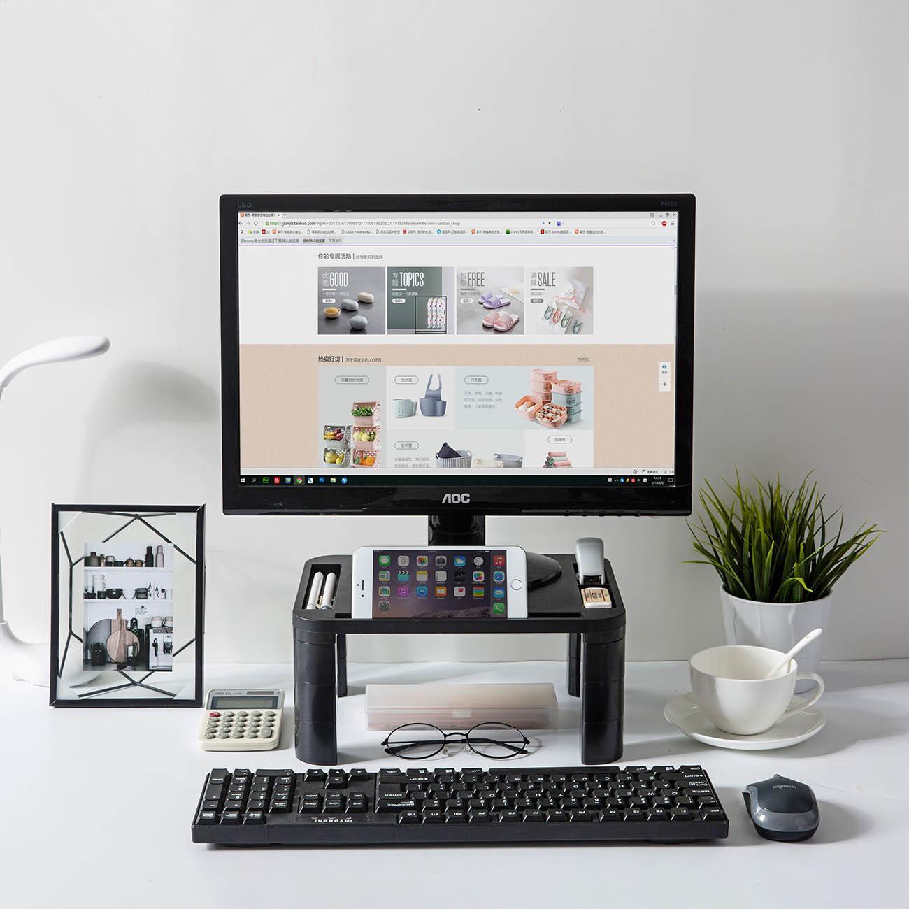 1 шт. регулируемый домашний офис настольный монитор стенд Самостоятельная сборка ЖК-телевизор ноутбук стойки компьютерный экран стояк полка T200320