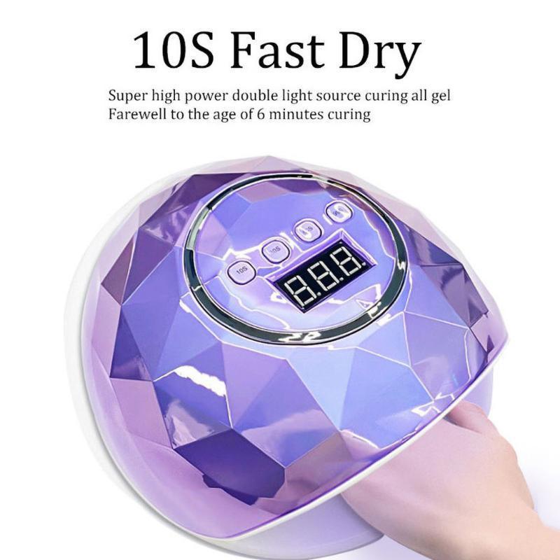LED Nail lampe avec 10s / 30s / 60s / 99s lampe UV Leds Manucure Gel Nail Art Light Machine Gel Polish Sèche
