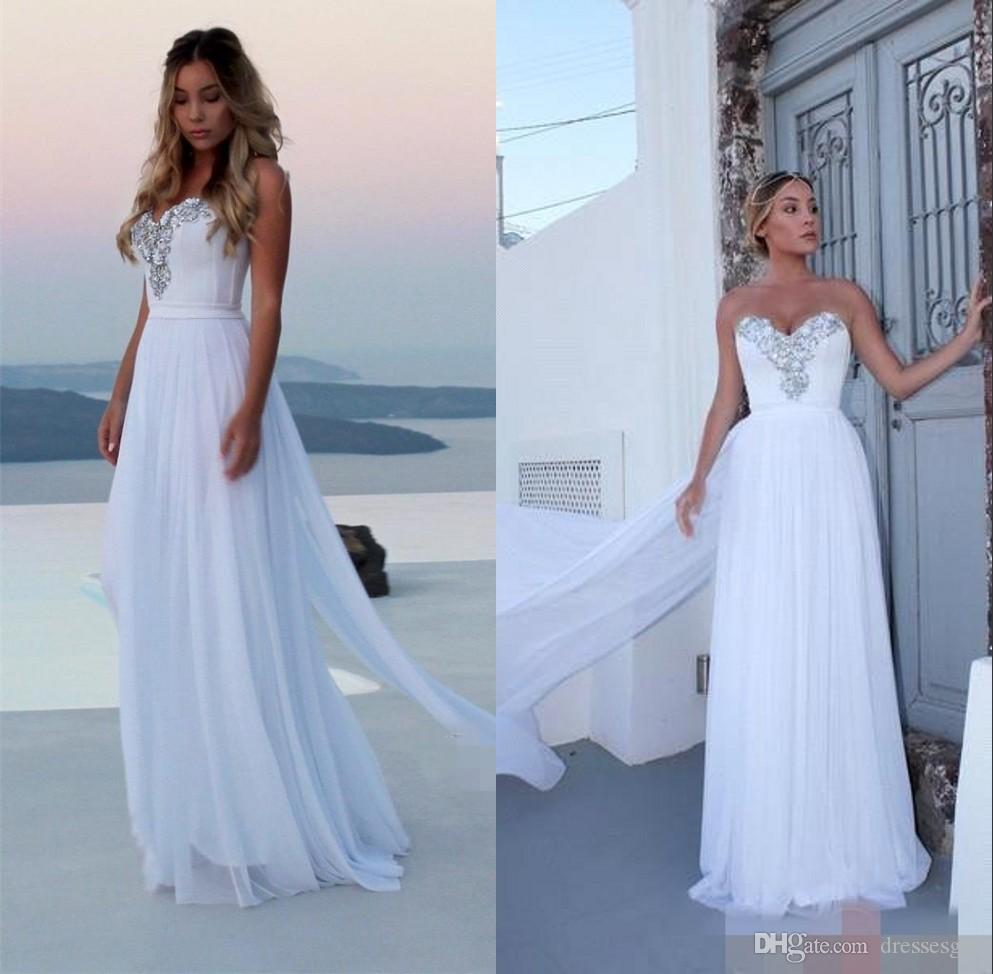 Silver Chiffon Wedding Dress
