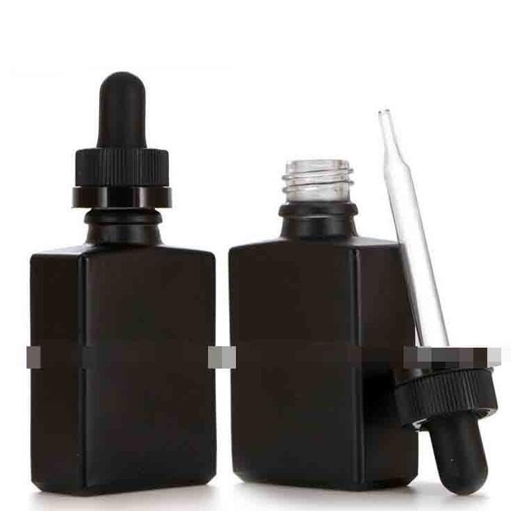 ساحة متجمد العنبر الزجاج زجاجة 30ML زجاجة ماتي الزجاج قطارة مع غطاء أسود واضح لمن الضروري النفط جودة عالية