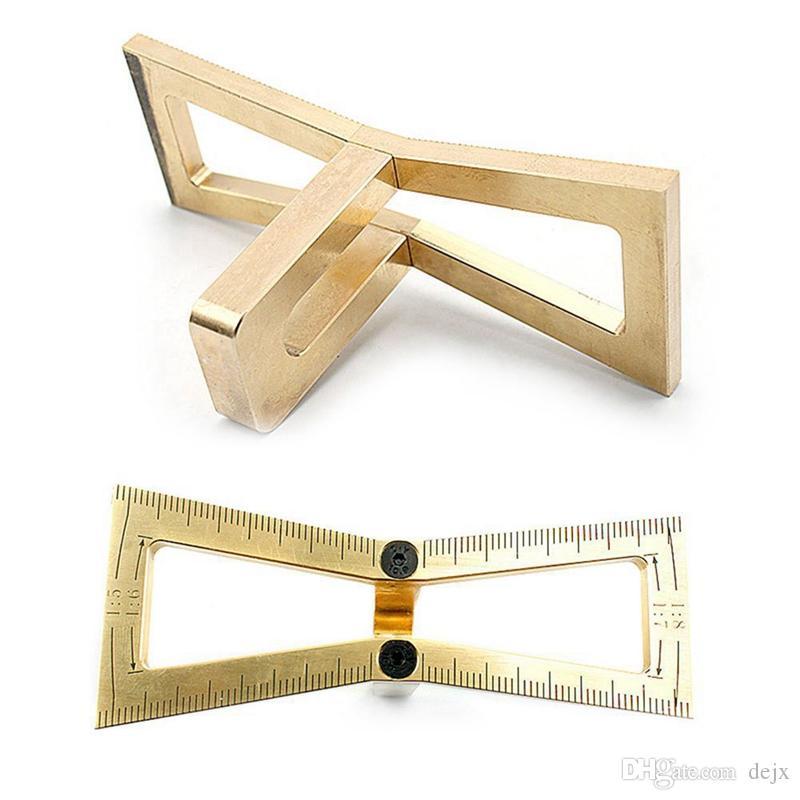 Marqueur de queue daronde magn/étique Coup/é /à la main Jauge de joints de bois Queue daronde Guide