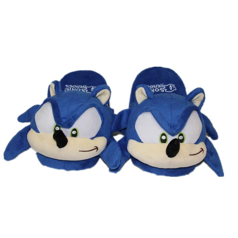 Sonic the Hedgehog Plush Toys Women Men Cartoon Plush Home Slippers Fashion Winter House Indoor Shoes Soft Toys Dolls LY191217