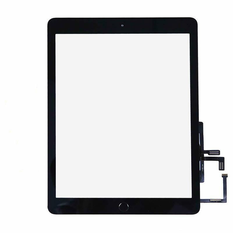 Touch Screen Panel Digitizer for Ipad 9.7 2017 A1822 A1823 Tablet With Home Button & Preattached Adhesive Replacement Parts Black White
