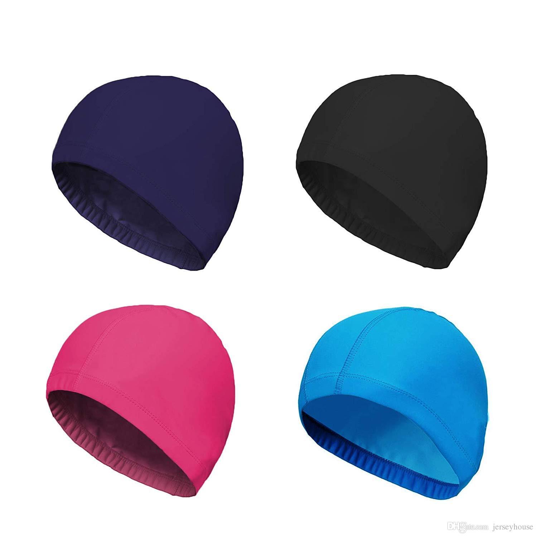 gorros de natación unisex de color puro para hombre