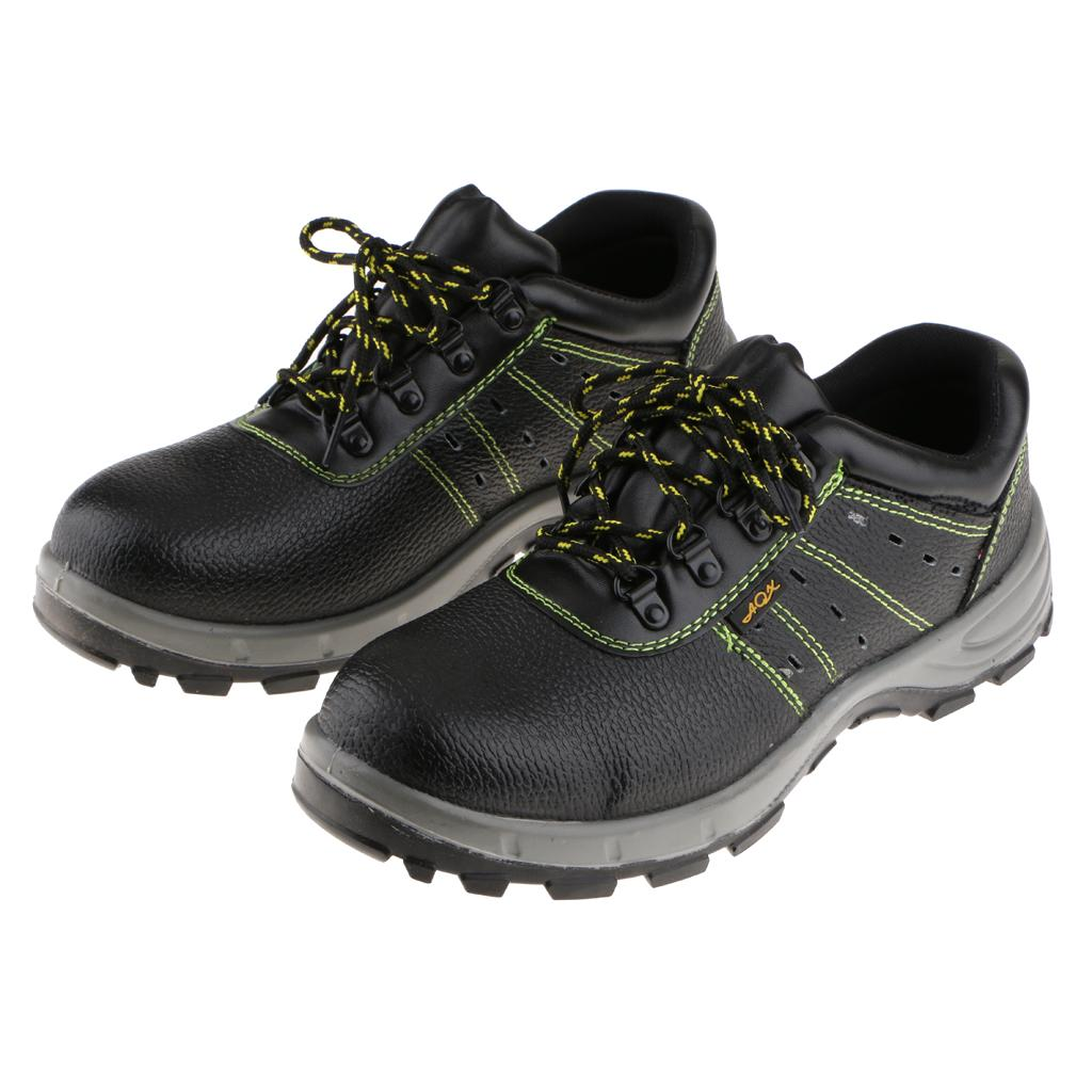 Mens Breathable Trainers Shoes Steel Toe Cap Safety Work Boots Leather Hiker Industrial and Construction Footwear