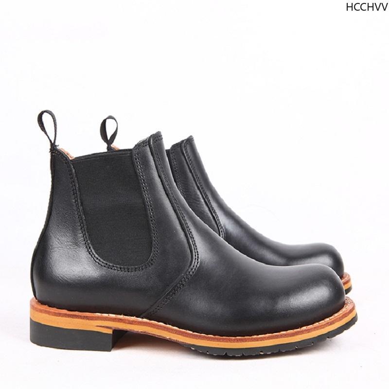 Bottes Hommes Suede en cuir pour homme Bottines originale Homme court Chaussures Casual style britannique Hiver Printemps Boot black