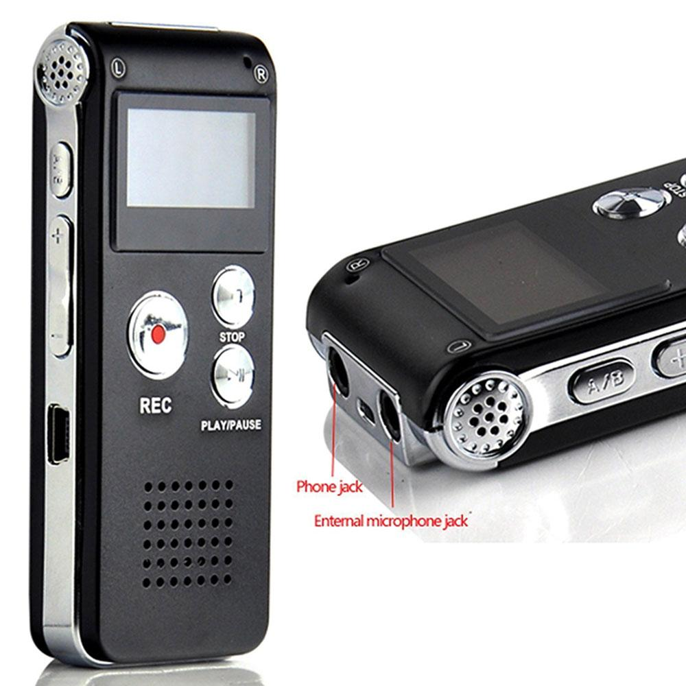 حار بيع جهاز 4GB 8GB 16GB الذاكرة المهنية الصوت الرقمي صوت مسجل الصوت لاعب مسجل MP3 مع منفذ USB البسيطة