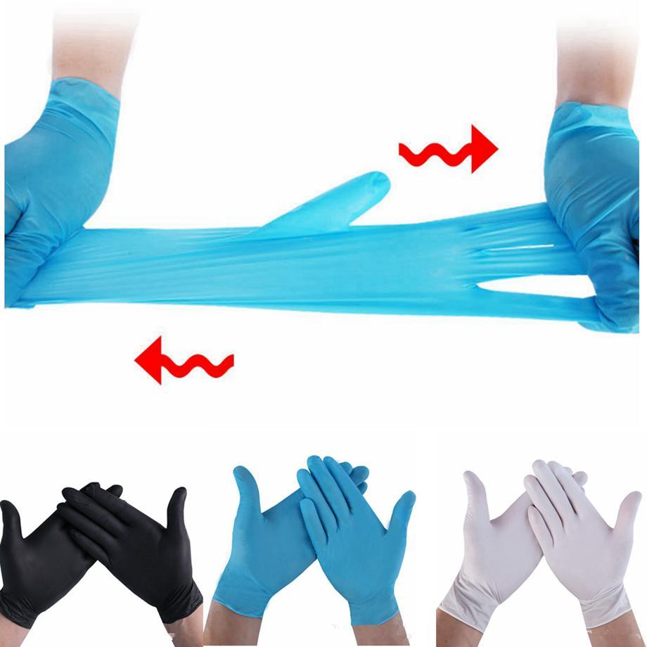 Guantes de protección de nitrilo desechables de látex de PVC universal del jardín del hogar Limpieza del hogar de goma guantes de látex S / M / L / XL LJJA4146