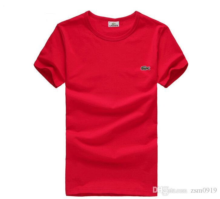 Casual t shirt da marca dos homens Crocodilo Bordado tops engraçado manga Curta t-shirt dos homens 100% camiseta de Algodão dos homens t-shirts de moda de Alta Qualidade
