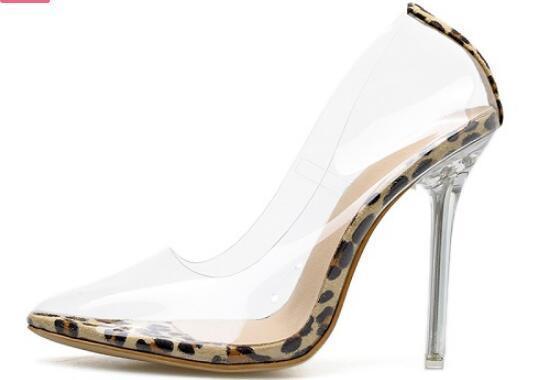 En PVC escarpins transparents Sandales TALONS AIGUILLES Perspex Talons Bout Griffes de Toe Chaussures de Chaussures de fête
