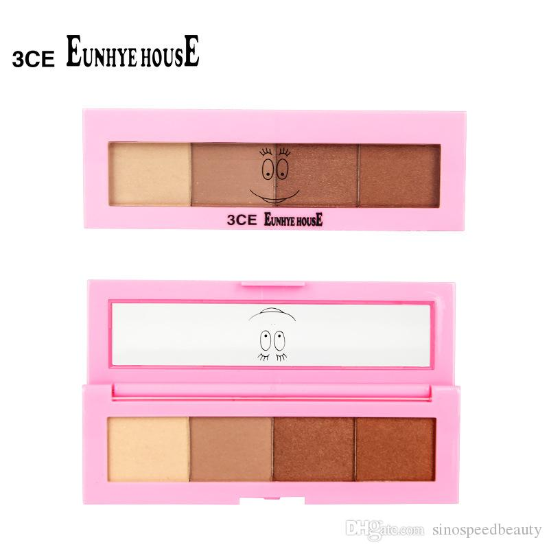 Factory Price 3CE EUNHYE HOUSE 4Colors Eyeshadow Palette Make up Kit Eye Shadow Nude Matte Natural Shimmer Eye Primer Cosmetics Tools SG1603
