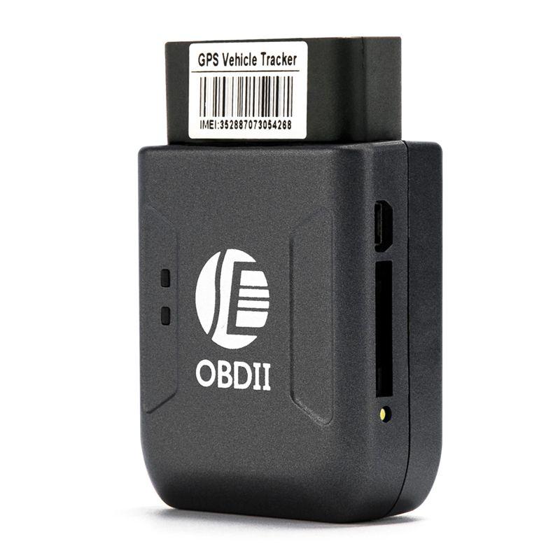 Nouveau GPS Tracker OBD2 Car Locator TK206 temps réel GSM suivi TK206 dispositif Geo-fence survitesse Vibration Déplacer Alarme Web APP Suivi
