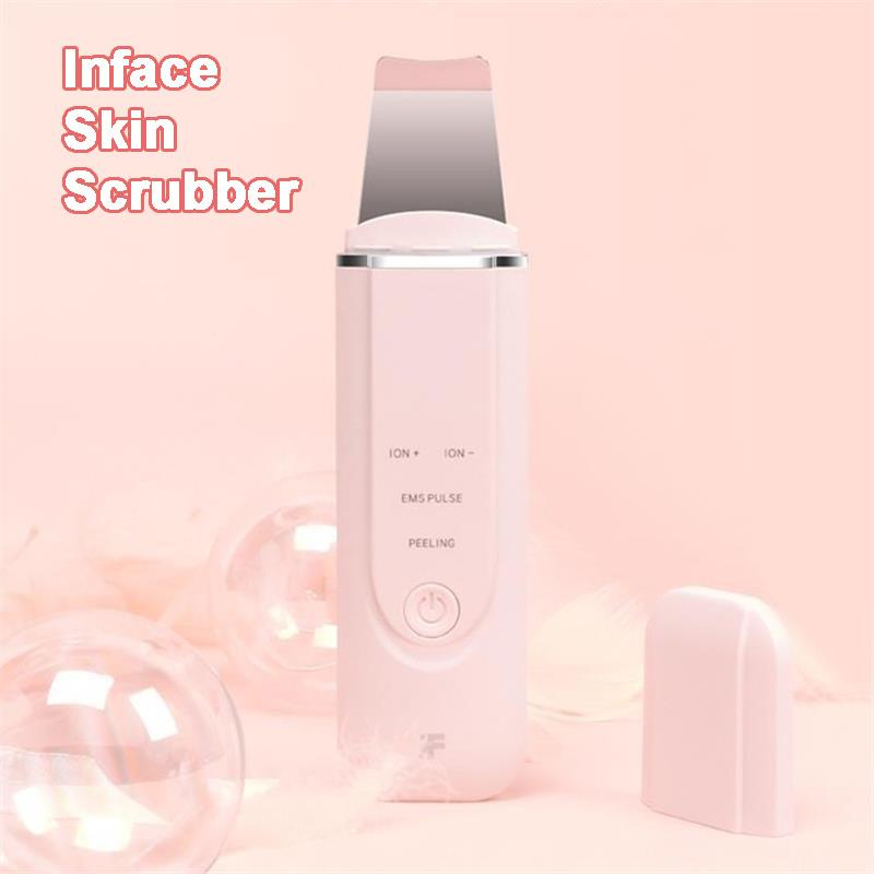 Xiaomiyoupin inface Appareil à ultrasons Ion Cleansing EMS Pulse stimulation faciale Pore Cleaner Peeling Pelle à haute fréquence de vibration