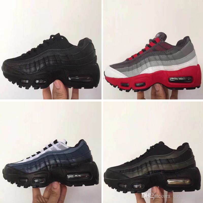 Nike air max 95 2019 chaussures de qualité supérieure pour enfants, chaussures de sport pour enfants, chaussures de basketball pour garçons et filles, enfant, légende de Huarache