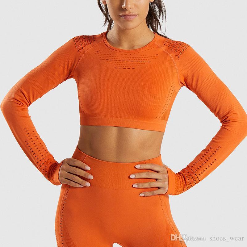 Seamless Yoga Set 2 peças para Mulheres Aptidão Esportes Yoga Calças de cintura alta Legging roupas de ginástica treino confortável terno treinamento