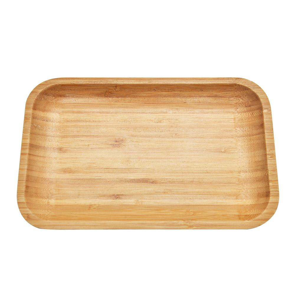 Premium Natural Handmade Bamboo Rolling Tray 176MM x 277MM Suit King Size Rolling Paper or Aluminum Metal Herb Grinder Smoking Rolling Trays