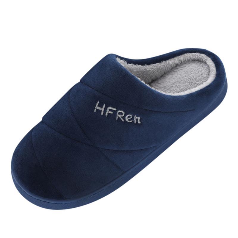 Uomo caldi d'inverno pantofole modelli paio di colori solidi antiscivolo scarpe morbide scorrevole piano piano casa di alta qualità Uomo calzature A40
