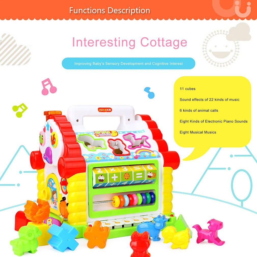Fun Cottage Baby Wisdom House Young Children Building Blocks Baby Early Education Puzzle 1-3 Years Old Toys