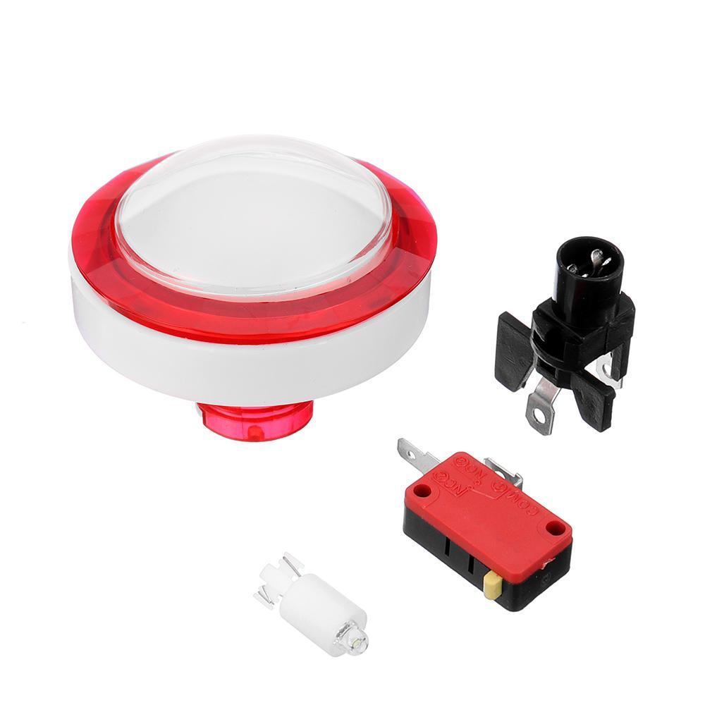 Кнопка 60MM светодиодные Нажмите для аркадной игры консоли контроллера DIY - белый
