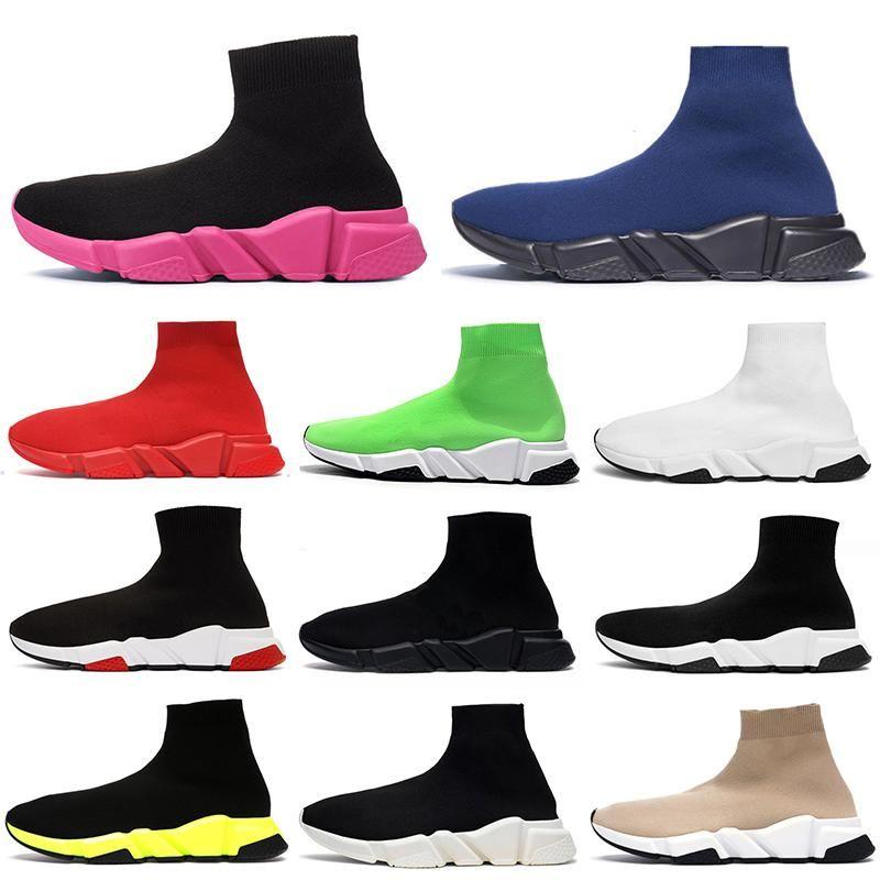 ACE дышащий Flat Cusual Обувь Мужские Женские носки обувь Speed Trainer Черный Белый Розовый Синий Дизайнер Урожай Платформа Сапоги Кроссовки