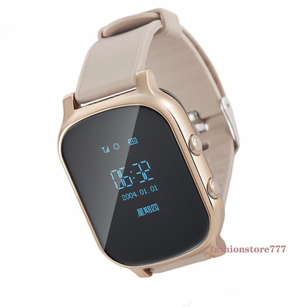 Relógio inteligente T58 Crianças Criança Elder Dispositivo Adulto GPS Tracker inteligente Pulseira GSM rastreamento LBS WiFi Chamada Grátis Web APP em tempo real para iPhone Android