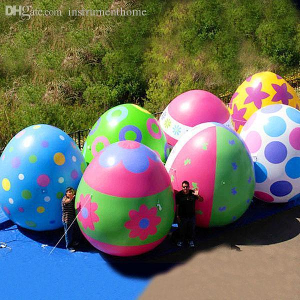 도매 무료 배송 전체 판매 거대한 풍선 부활절 달걀, 이벤트 장식을위한 풍선 계란