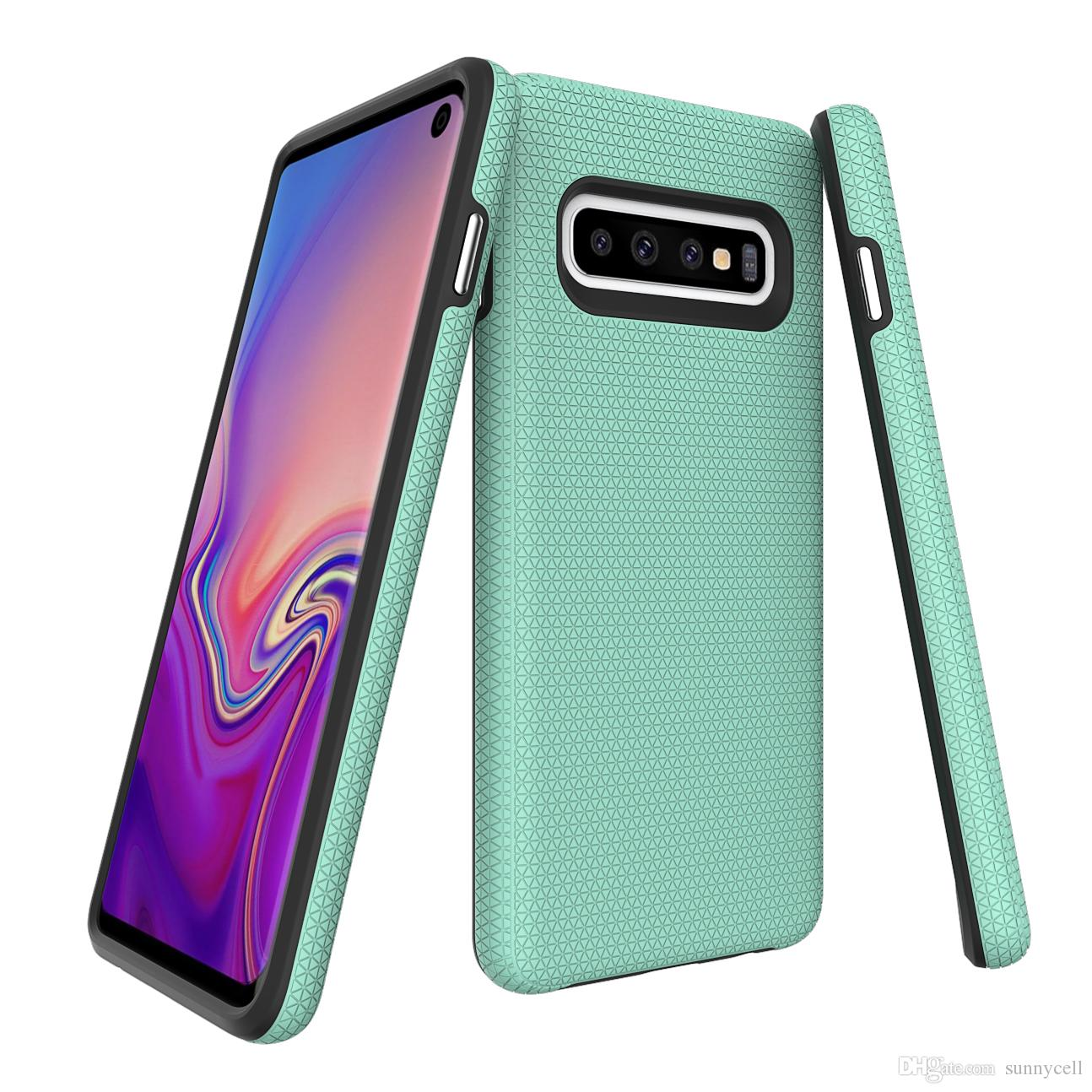 For LG G8 ThinQ G7 G6 K10 K8 K4 K3 V30 V40 V50 Stylus 3 Triangle Series Shock Absorbing Patterned Design Protection Cover Case