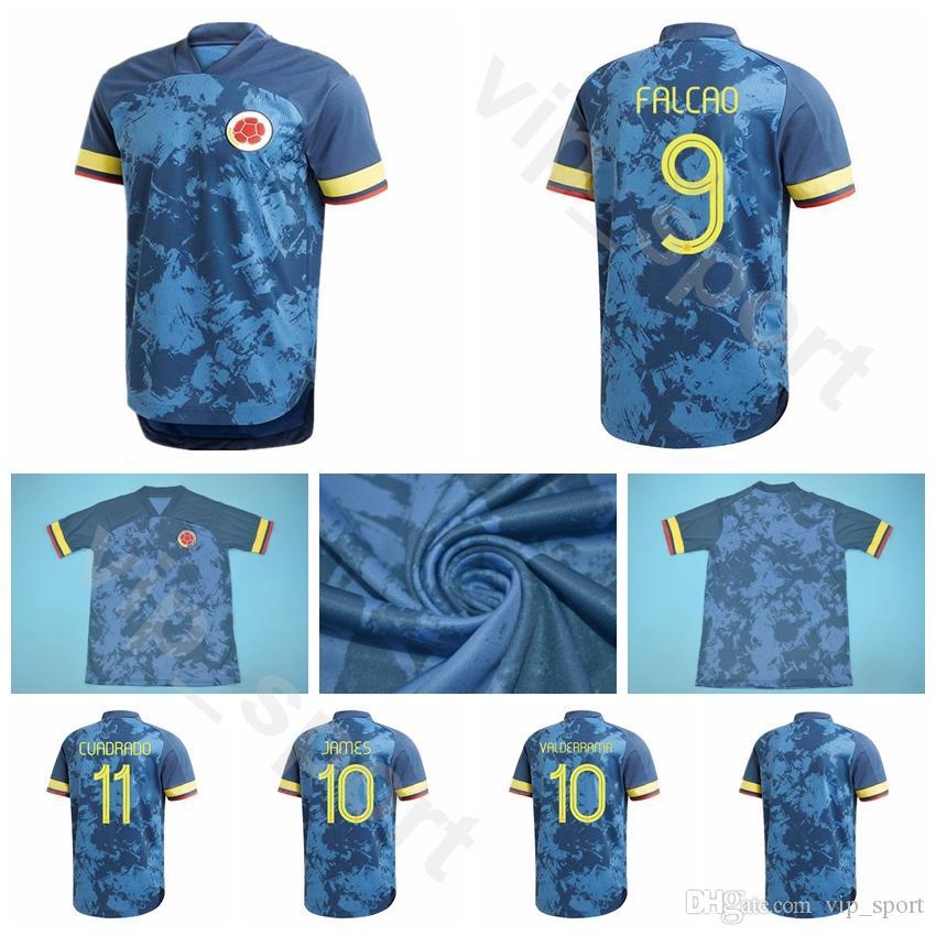 2020 Futbol Kolombiya 9 Falcao Jersey 19 Muriel 5 Barrios 6 Tesillo 3 Medine 2 Zapata 1 Ospina 12 Vargas Futbol Gömlek Kitleri