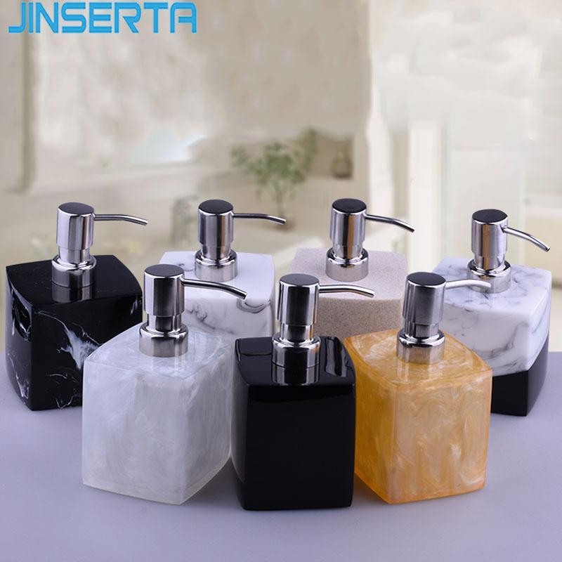 JINSERTA veteado del dispensador de jabón Sub-Botella Home Hotel Baño botella de la mano Desinfectante Shampoo Gel de Baño de prensa Loción