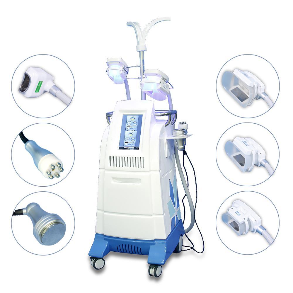 Лучшая цена Cryolipolysis жира замораживания машина для похудения жира уменьшить портативный Cryolipolysis lipolaser кавитации RF для похудения машина