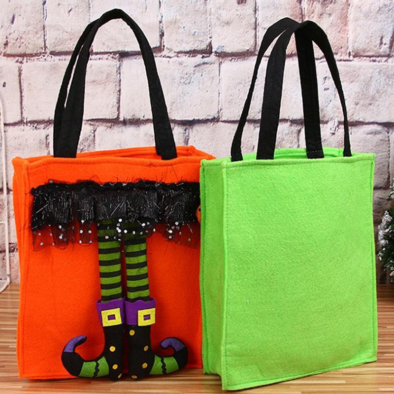 Halloween Décorations Pour Enfants Cadeau Candy Bag Portable Sac non-tissé épaule Elf Candy Set