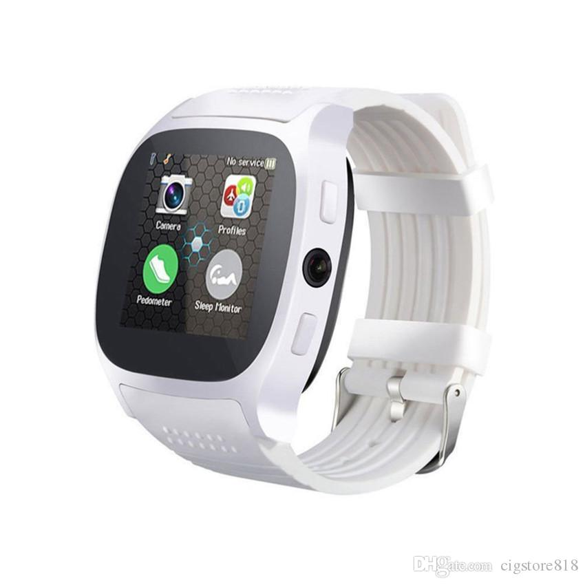 Smart Watch with Camera Touch Screen Support SIM TF Card Bluetooth Smartwatch for iPhone Xiaomi Android Phone T8 Smart Watch