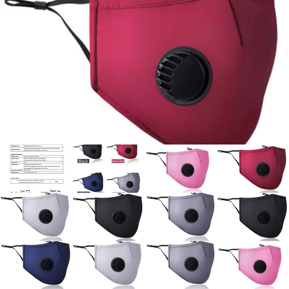 Protective Cotton Smog e antipolvere PM2.5 respirazione Valve Mask può essere inserito Filtro Estate Ee UR83