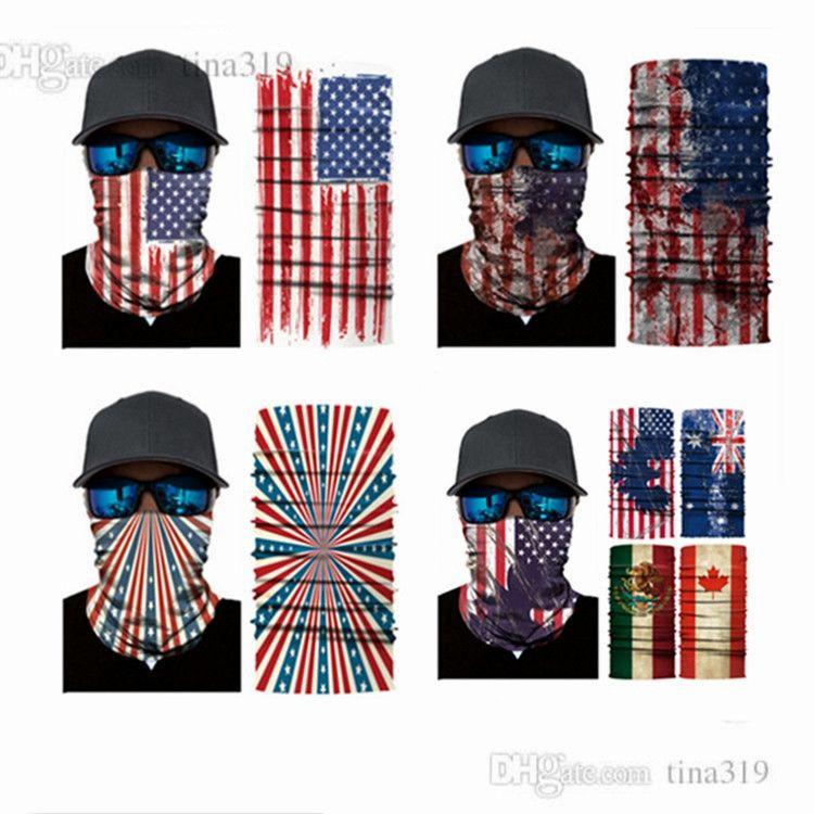 Новый многофункциональный функция волшебный шарф бесшовные шарфа спортивный национальный флаг маска солнцезащитный крем шарф пират шляпу T2C5032