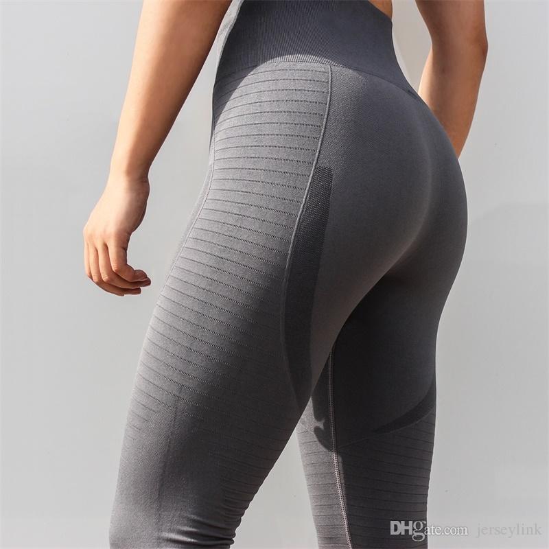 Neue super stretchy frauen gym strumpfhosen energie nahtlose bauchkontrolle yoga hosen hohe taille sport leggings lauf yoga leggings # 1005158