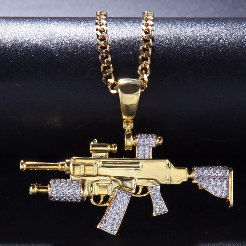 Iced Out Pendant Necklace For Men New Arrival AAA Zircon Fashion Hip Hop Jewelry Cuban Chain Necklace