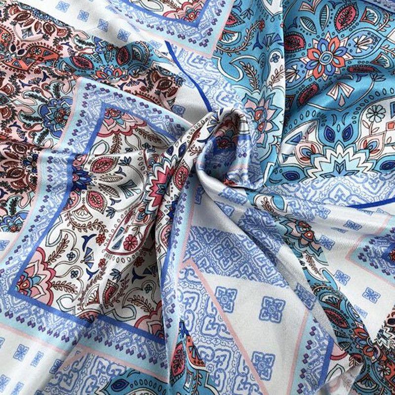 Fashion Blue jacquard embroidery painting Tweed cotton fabric coat dress textiles nappe rideau tissu patchwork diy fabric C823