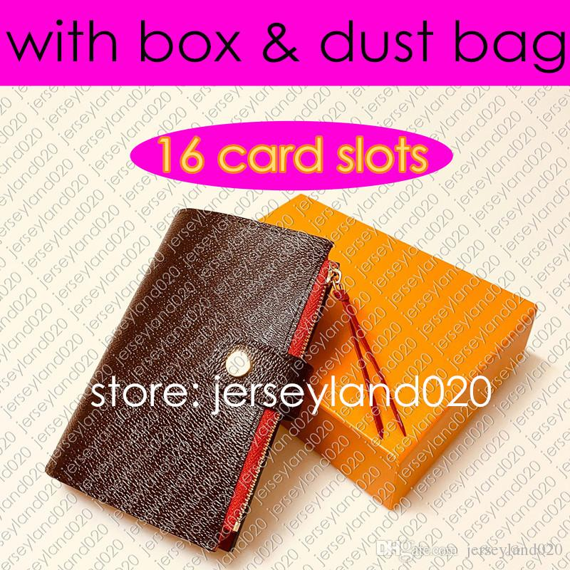 Christmas gift Credit Card ID Holder Genuine Leather Color Mixing Design Hasp Womens wallet