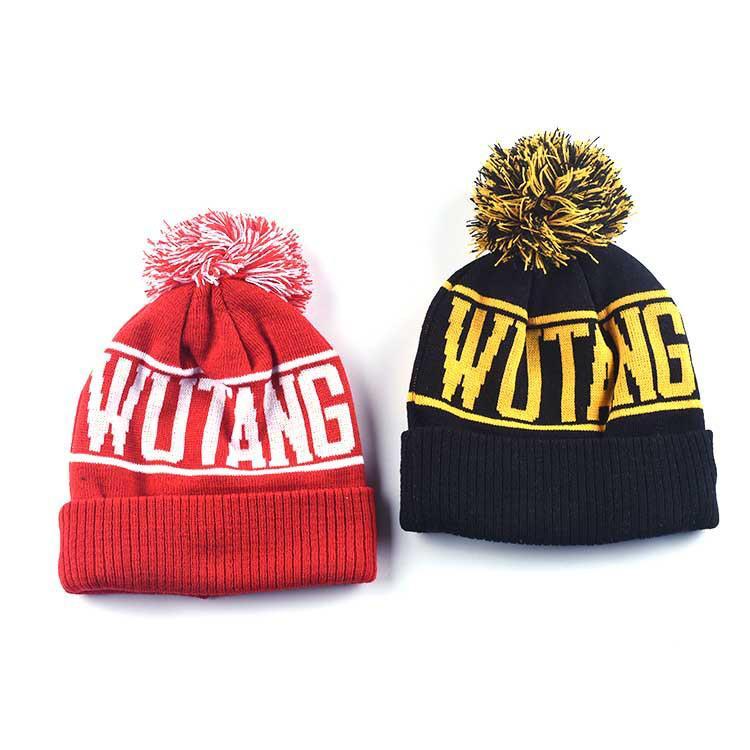 2 colors W Popular Designer knitted hat Acrylic Beanie wool knitted Pom Knit Sports Winter hat Snow cap Head Warmer Bonnets Wholesale BJY743