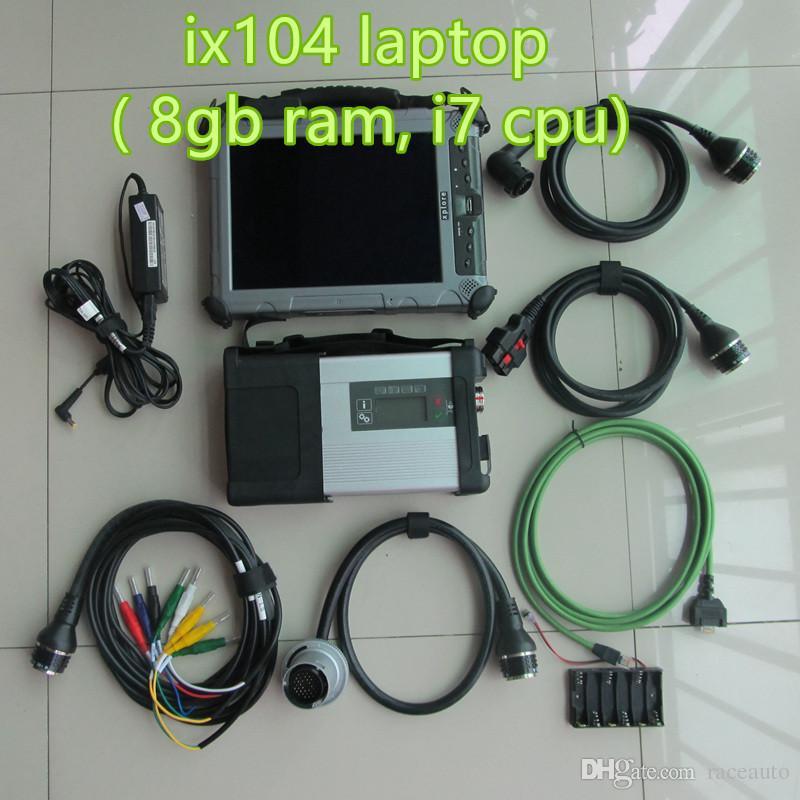 2019 mb star c5 con laptop ix104 8GB RAM i7cpu con 2019.03v mb sd c5 ssd super speed para escáner benz