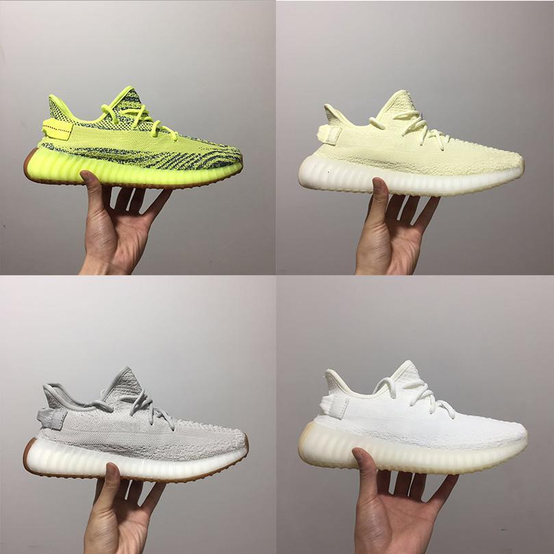 2 0 Colorimétrie Classique Beurre Sésame Beluga. Kanye West Man et les femmes Sneaker Sport Chaussures de course Chaussures de plein air