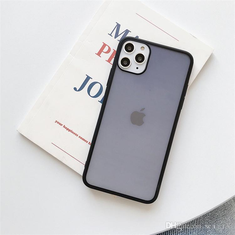 Nouveau Arrivé ultra mince coloré translucide design téléphone clair givré mat de cas pour l'iPhone 11 Pro Max 7 8 Plus