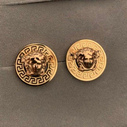 جديد وصول 3 ألوان أعلى جودة الفولاذ المقاوم للصدأ جولة 3D رئيس الذهب بطاقة مسمار أقراط 18k الذهب وأقراط من الرجال والنساء